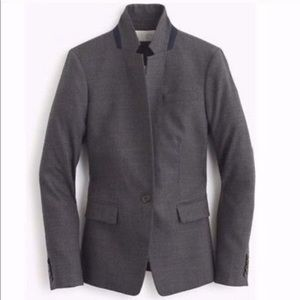 J Crew Regent Blazer Gray Wool Size 000